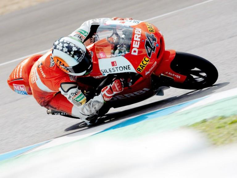 Pol Espargaró in action at the Jerez test