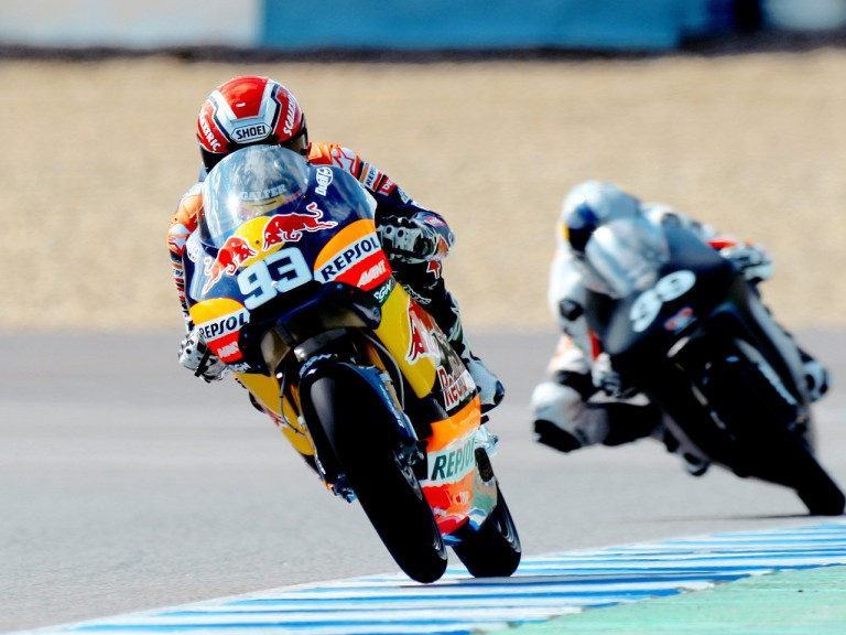 Marc Marquez in action at the Jerez test