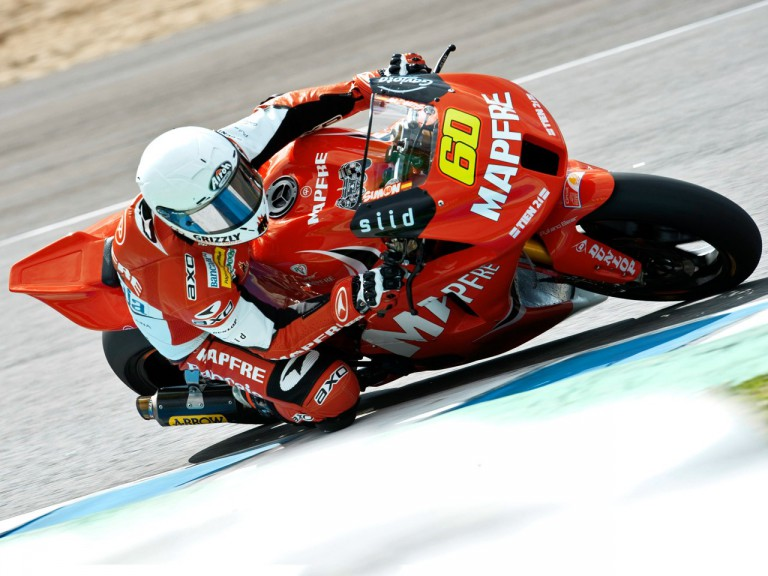 Julián Simón in action at the Jerez test
