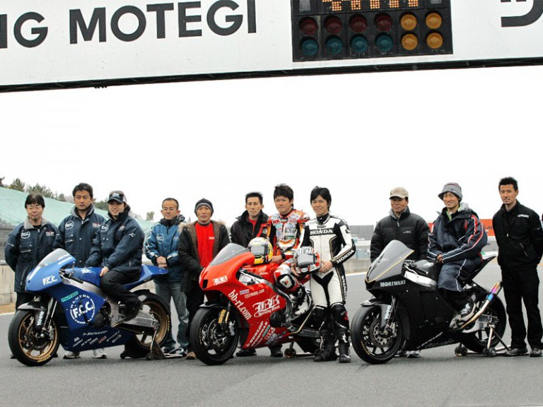 Moto2 machines Media Test at Twin Ring Motegi with Shinya Nakano