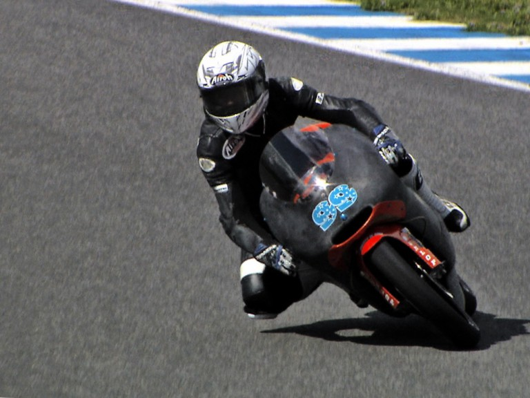 Danny Webb in action at the Jerez test