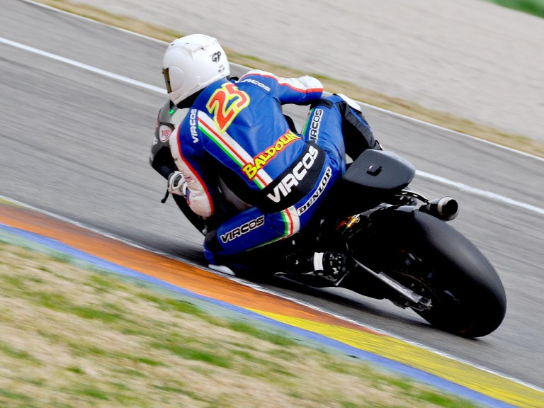 Alex Baldolini in action at the Valencia test