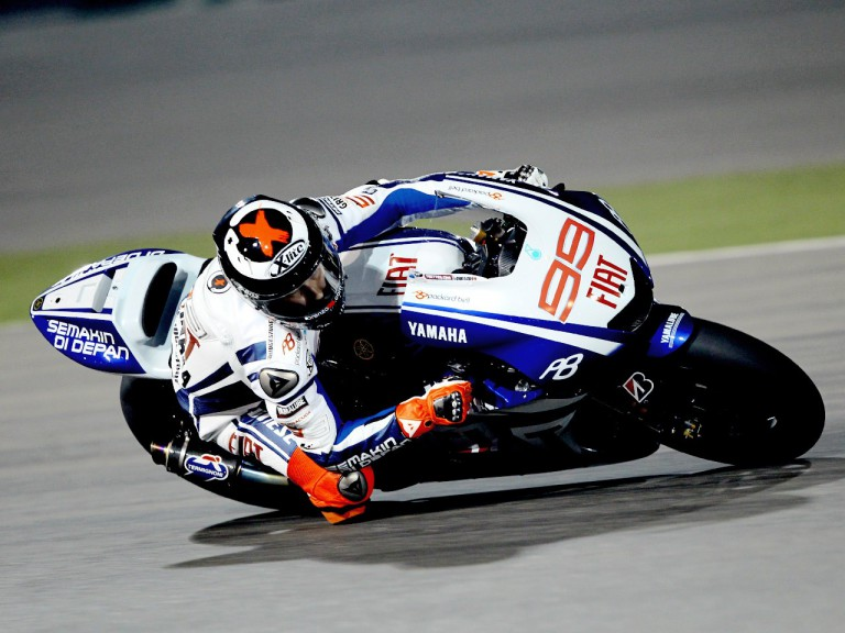 Jorge Lorenzo at the Qatar test