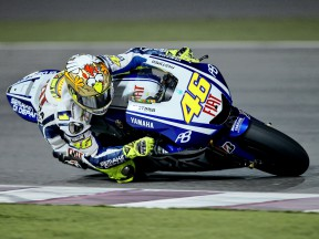 Valentino Rossi in action at the Qatar test