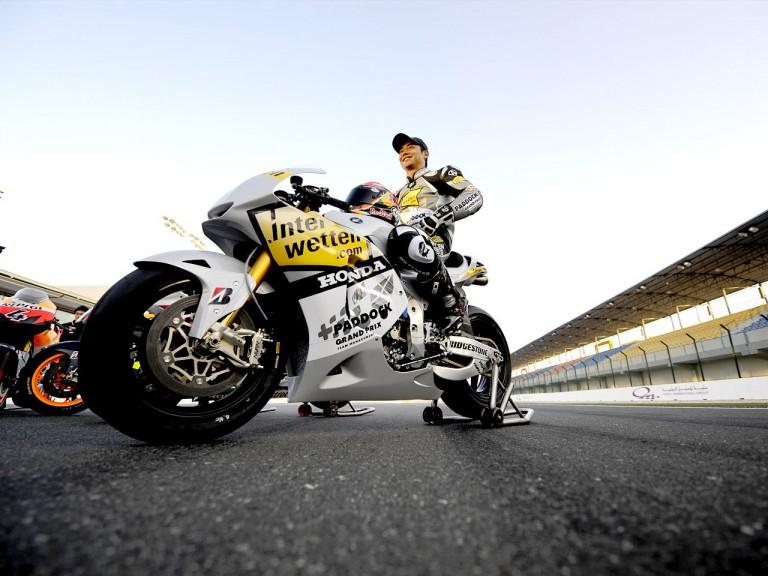 Interwetten Honda rider Hiroshi Aoyama