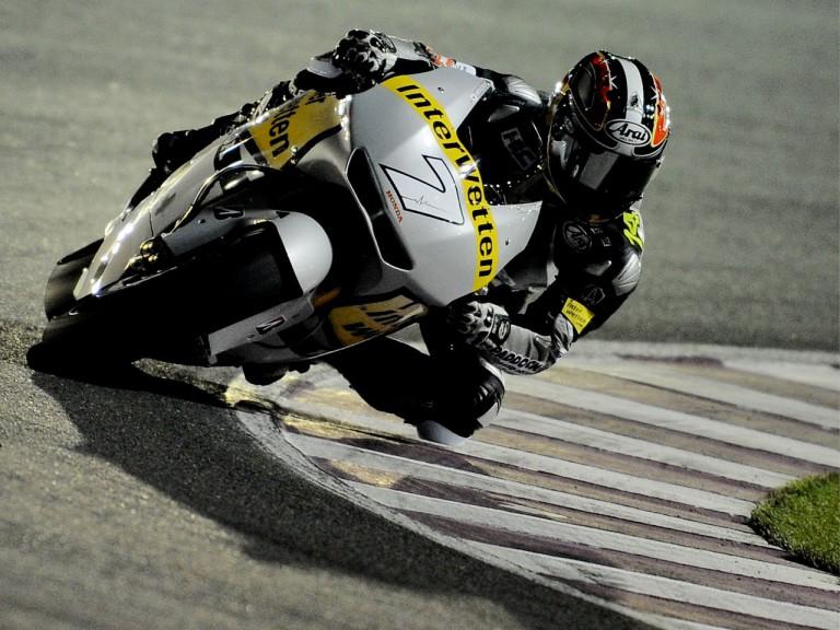 Hiroshi Aoyama on track at the Qatar test