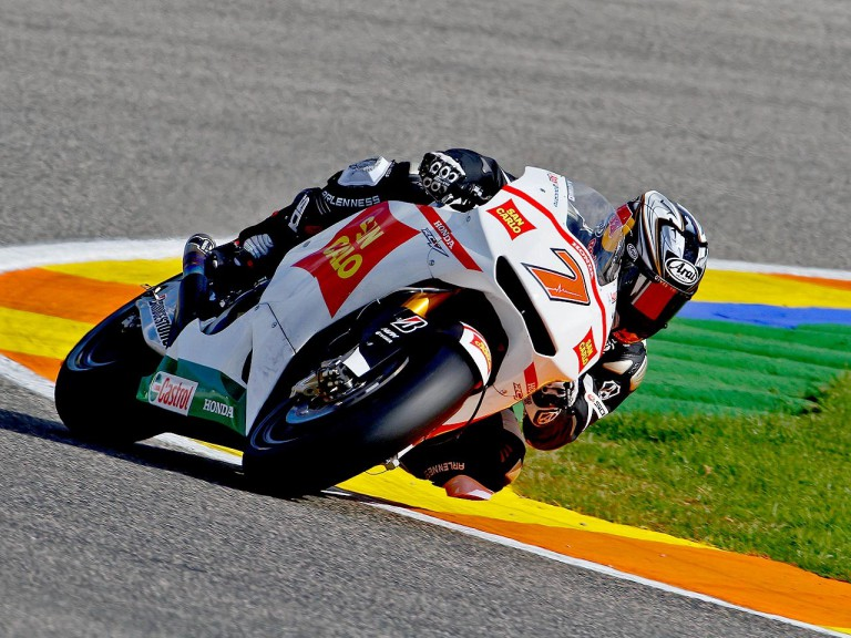 Hiroshi Aoyama in action at Valencia test