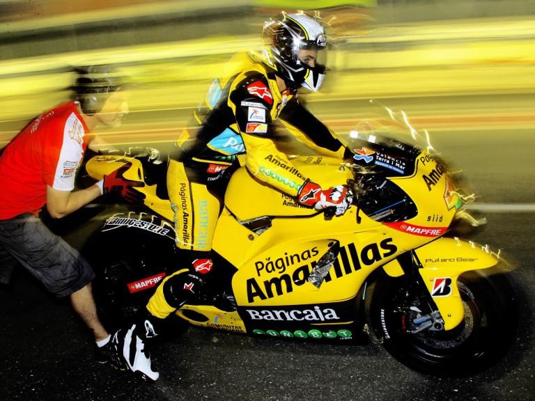 Hector Barberá at the Qatar test