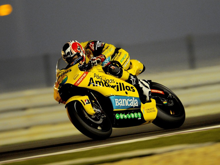 Hector Barberá at the Qatar test