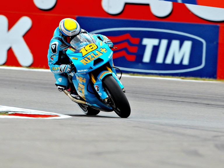 Alvaro Bautista in action at Assen