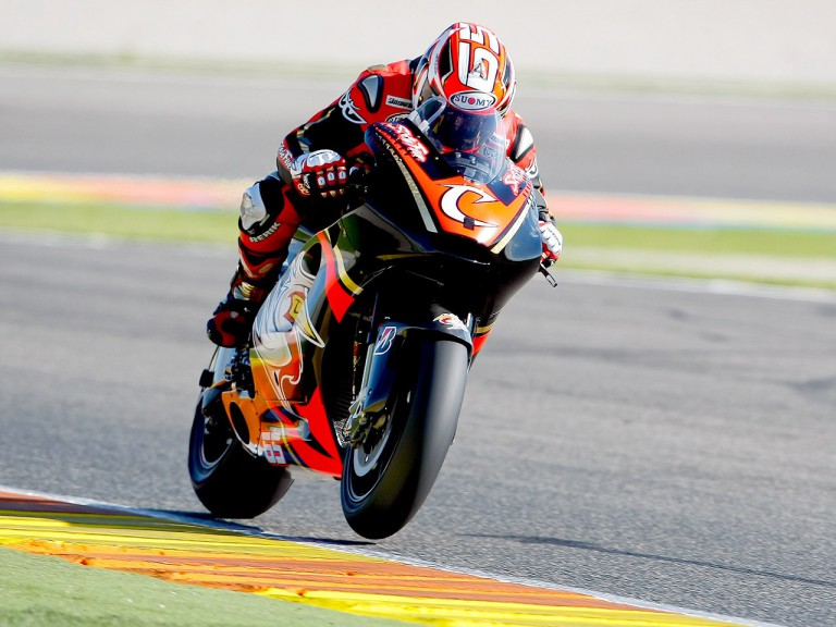 Loris Capirossi in action at Valencia test