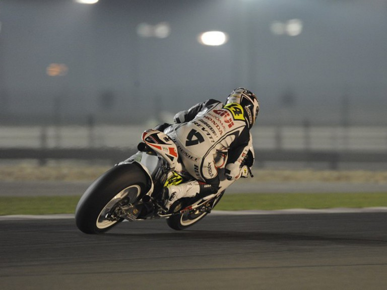 Randy de Puniet at the Losail International Circuit during the Official Qatar Test