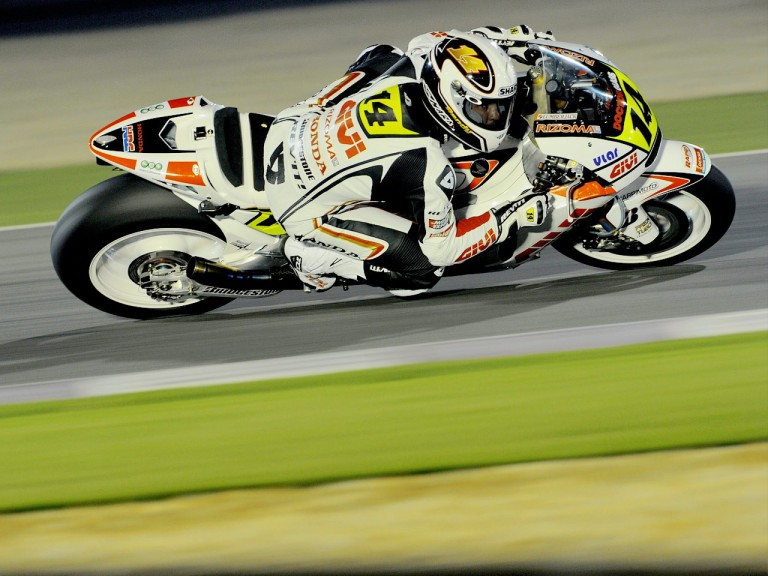 Randy de Puniet on track at the Qatar test