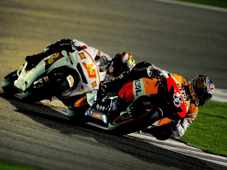 Dovizioso and Melandri on Track at the Qatar test