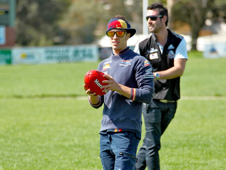 Andrea Dovizioso at Phillip Island Football Club