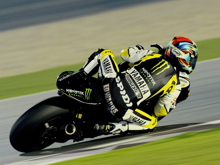 Colin Edwards in action at the Qatar test