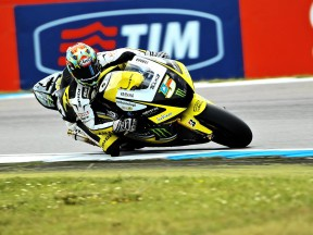Colin Edwards in action at Assen