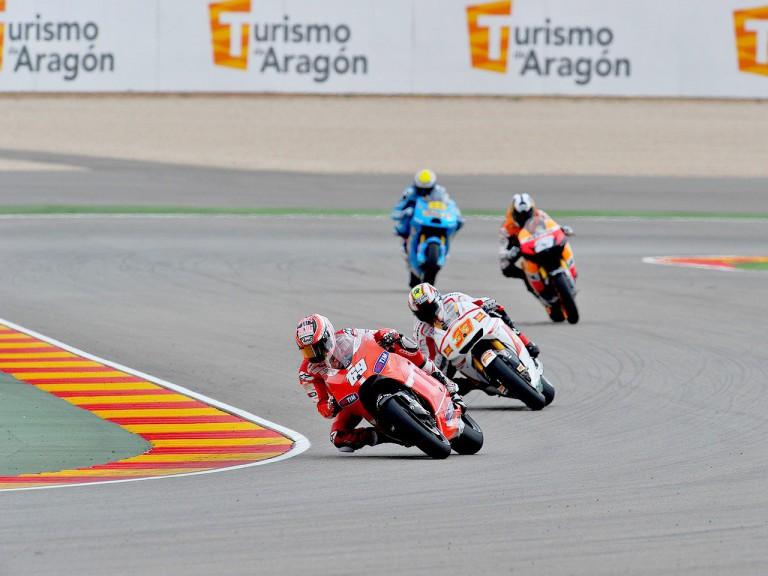 MotoGP action at Motorland Aragón