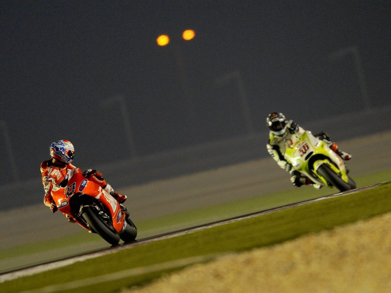 Stoner and Kallio on track at the Qatar test