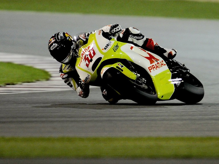 Mika Kallio in action at the Qatar test
