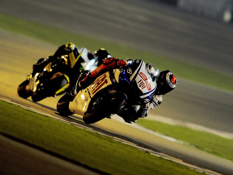 Jorge Lorenzo in action at the Qatar test