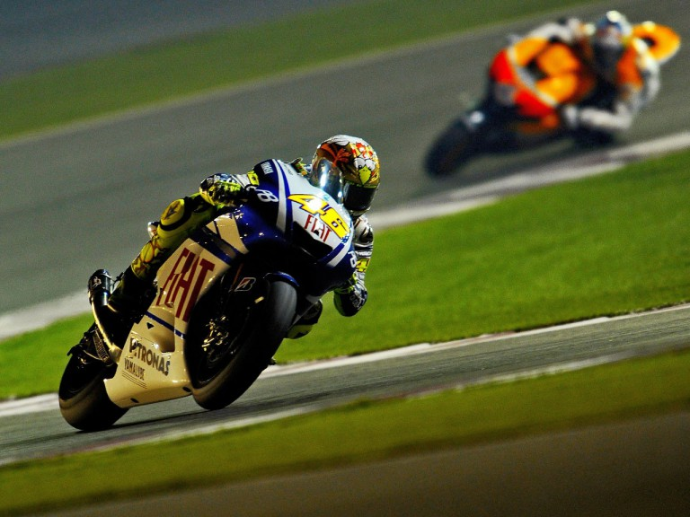 Rossi on track at the Qatar test
