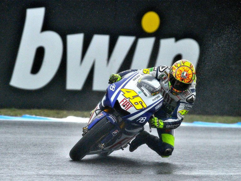 Valentino Rossi in action during FP3 at Estoril