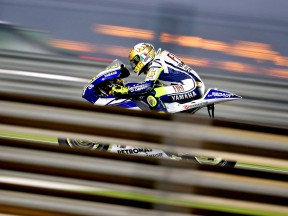 Valentino Rossi on track at the Qatar test