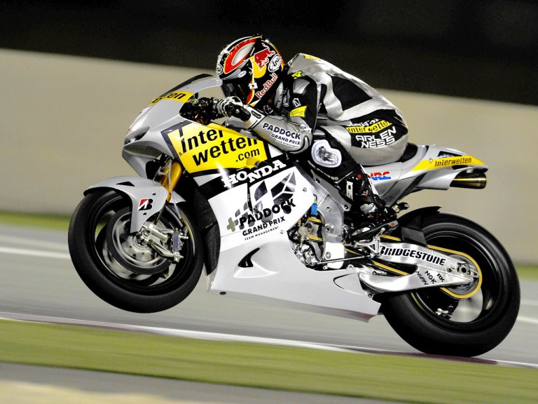 Hiroshi Aoyama in action at the Qatar test