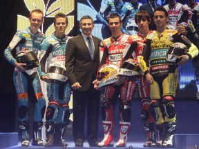 Jorge Martinez Aspar and his riders: Smith, Terol, di Meglio, Simon and Barbera