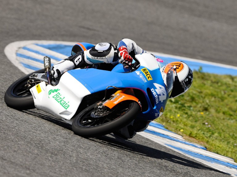 Pol Espargaró in action at the Jerez test