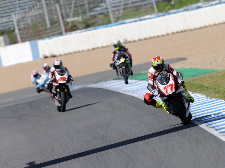 Moto2 Group in action at the Jerez test