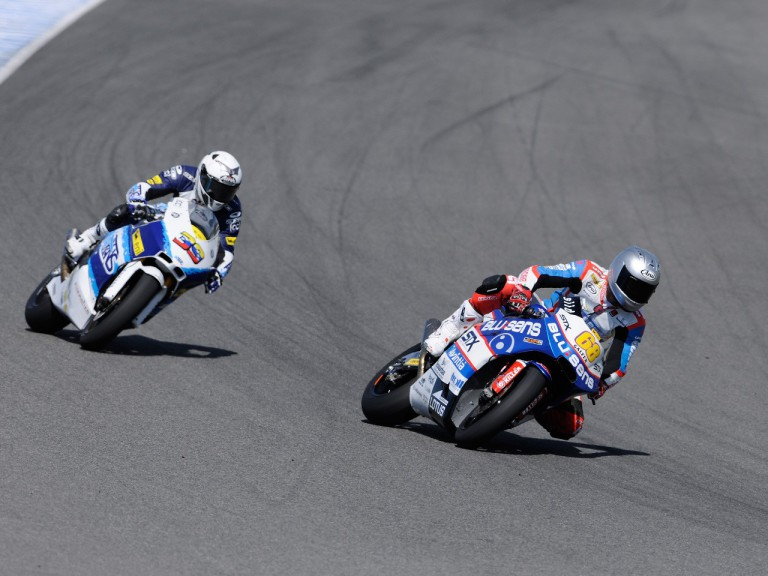 Yonny Hernandez and Robertino Pietri on track at the Jerez test