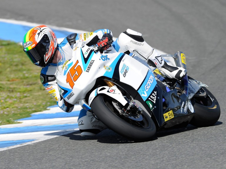 Alex de Angelis in action at the Jerez test
