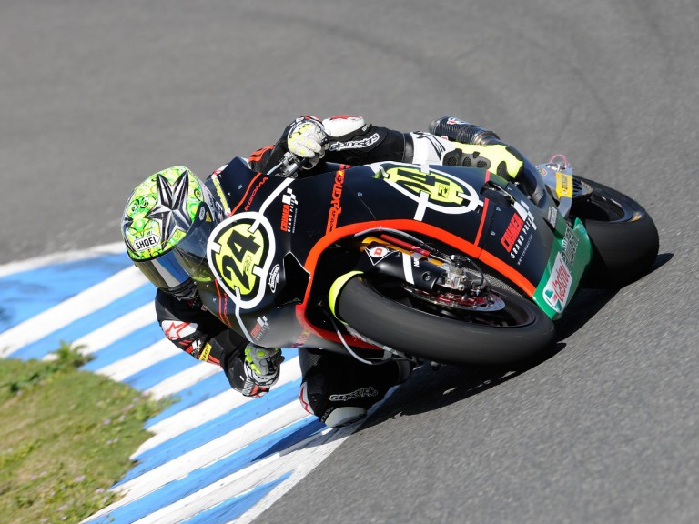 Toni Elías in action at the Jerez test