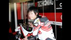 Shoya Tomizawa in the Technomag-CIP garage