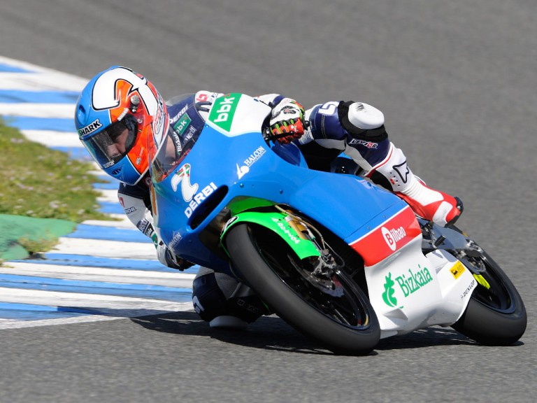 Efren Vazquez in action at the Jerez test