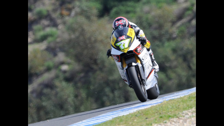 Claudio Corti in action at the Jerez test