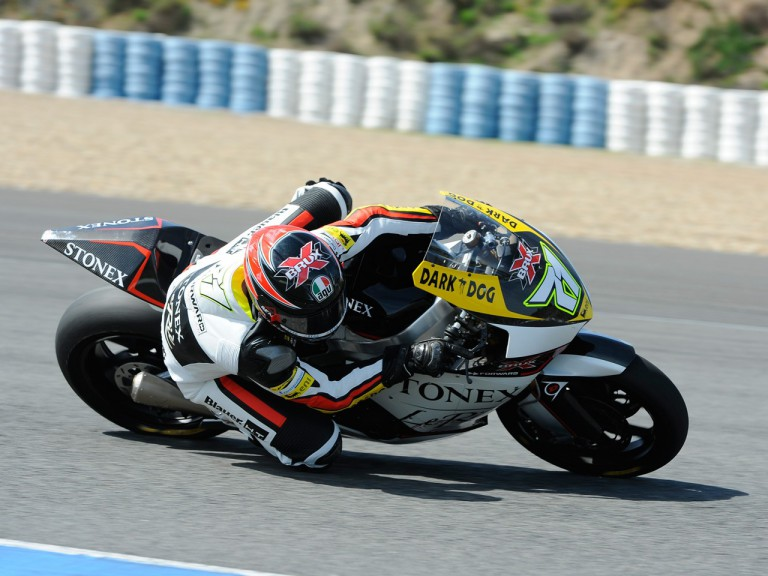 Corti in action at the Jerez test