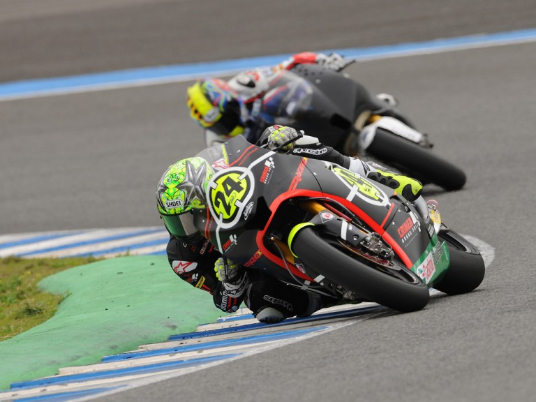 Toni Elias on track at the Jerez test
