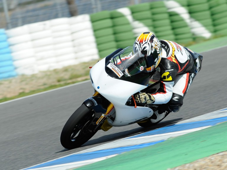 Tomoyoshi Koyama in action at the Jerez test