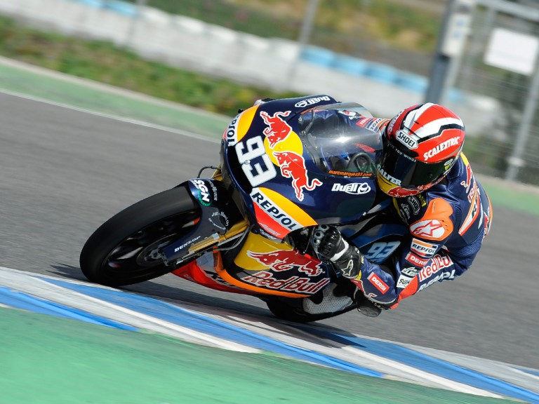 Marc Marquez on track at the Jerez test