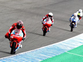 Moncayo in action at the Jerez Test