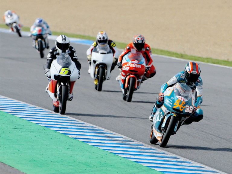 125cc Group in action at the Jerez test