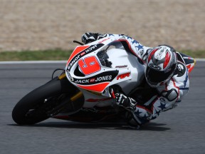 Kenny Noyes in action at the Jerez test