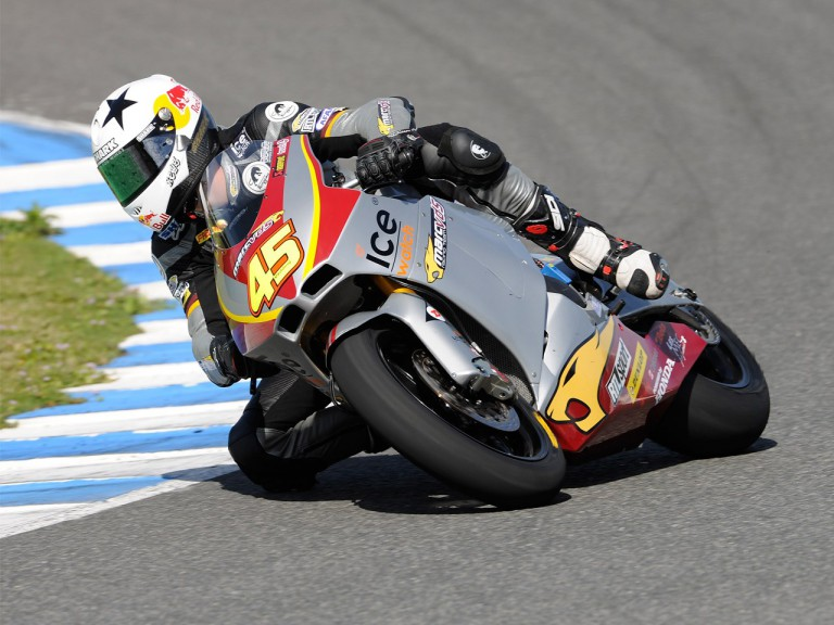 Scot Redding on track at the Jerez test