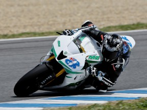 Anthony West on track at the Jerez test