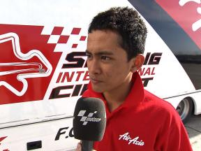 Jerez 2010 - Test - 125 - Interview - Zulfahmi