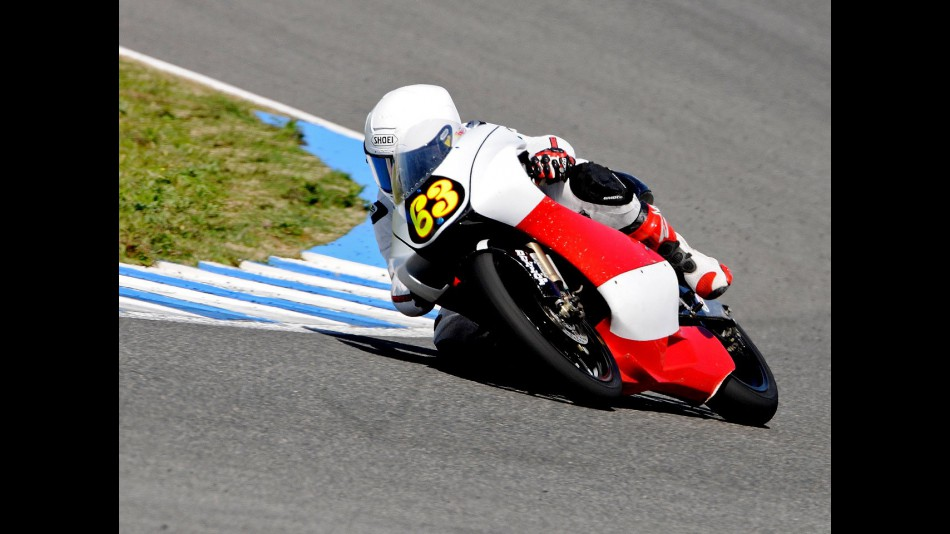 Muhammad Zulfahmi in action at the Jerez test
