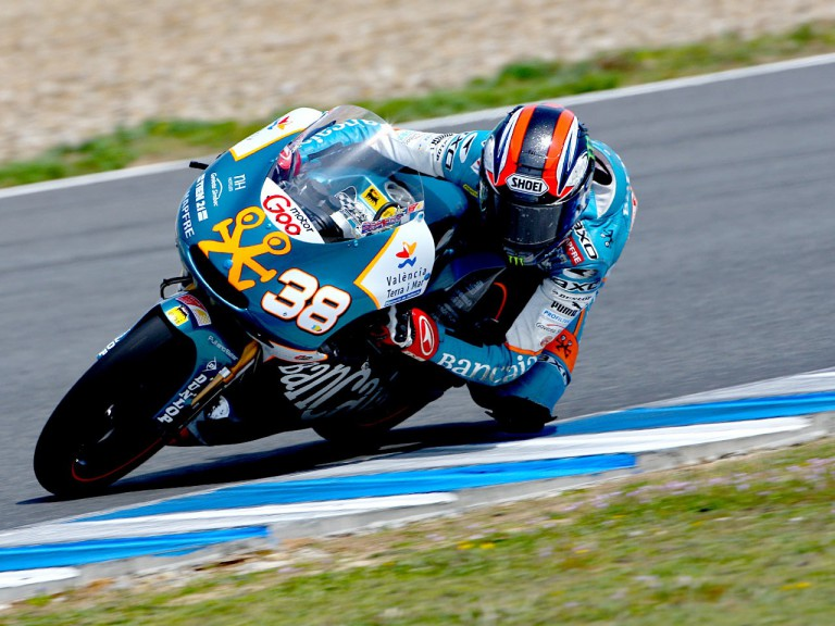 Bradley Smith in action at the Jerez test